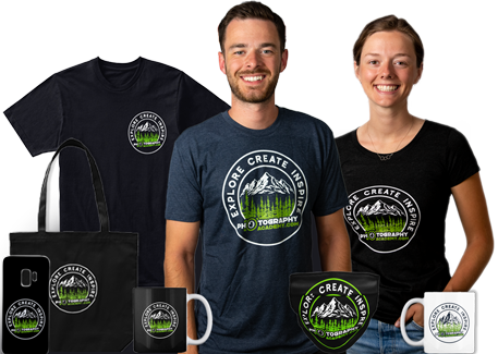 t-shirts, mugs, tote bags for photography academy