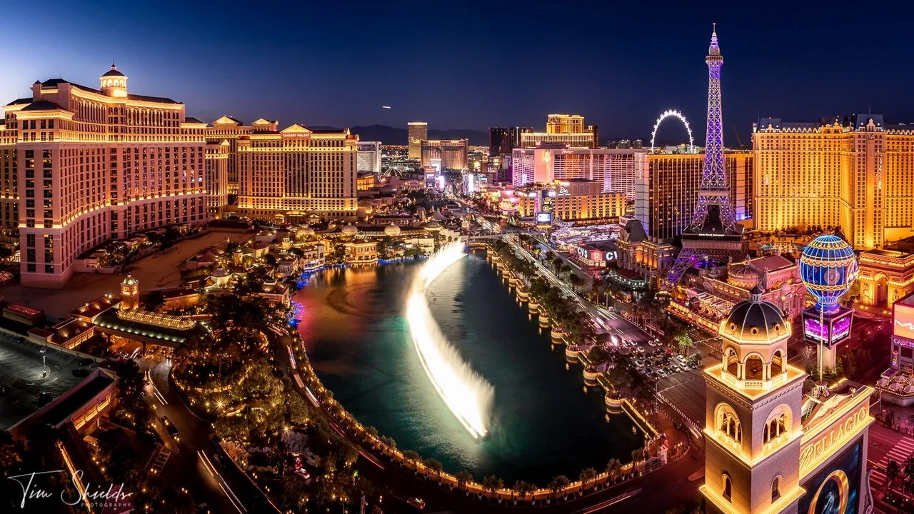 Capturing the colours of the Las Vegas Strip
